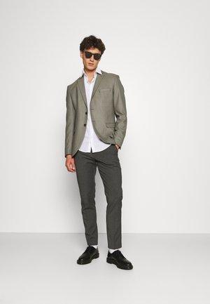 SLIM 2 PACK - Trousers - black/grey