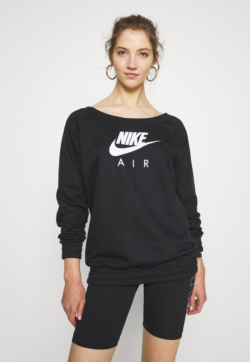 Nike Sportswear - AIR CREW  - Sweatshirt - black/white