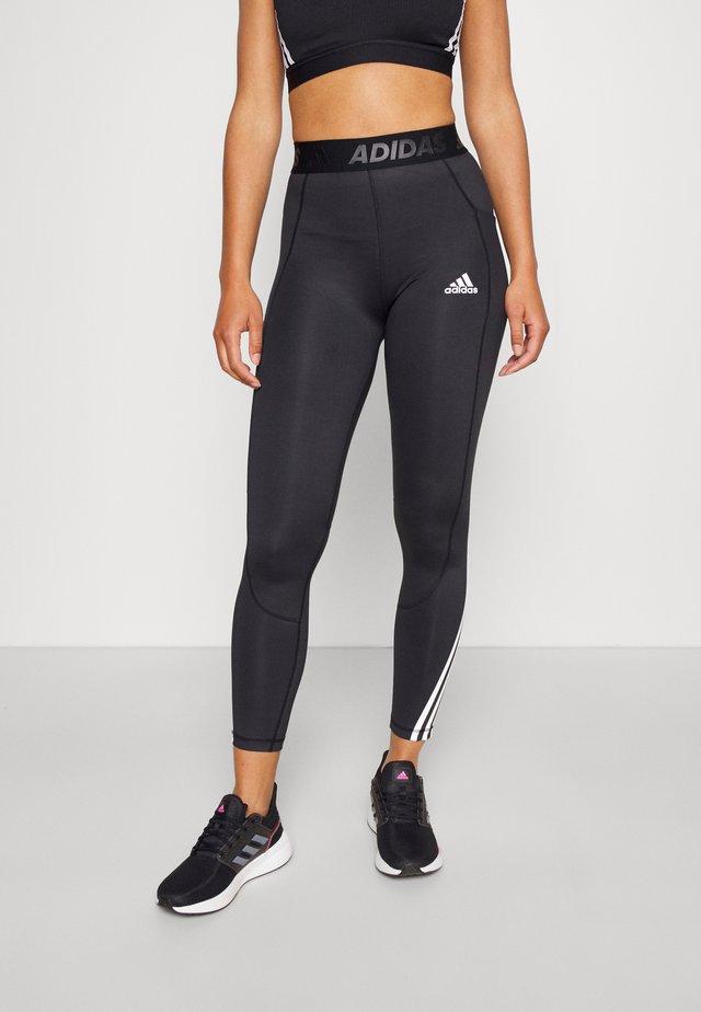 3-STRIPES TECHFIT AEROREADY TIGHT - Leggings - black