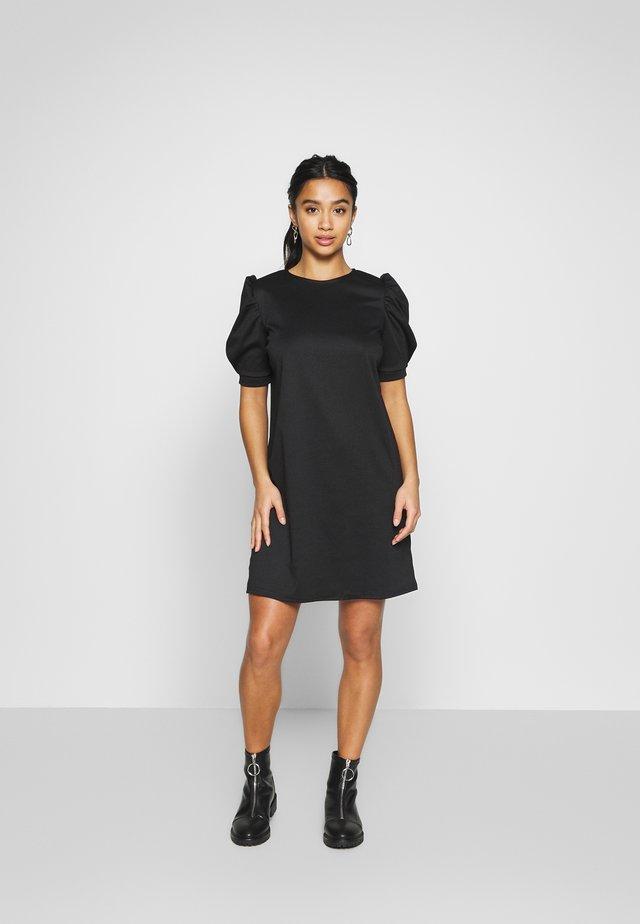 PONTI PUFF - Vestito di maglina - black