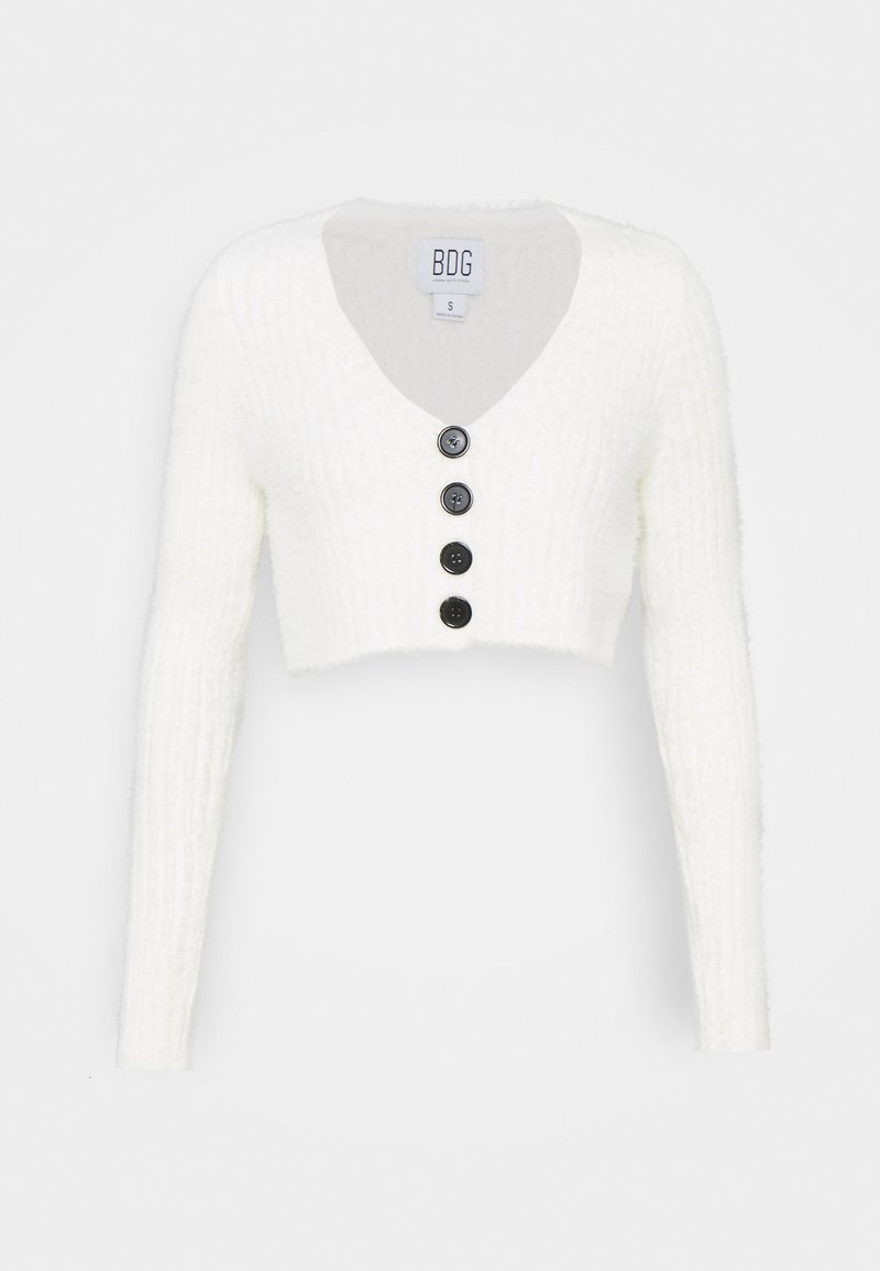 BDG Urban Outfitters - ROCHELLE FLUFFY CARDIGAN - Cardigan - ivory