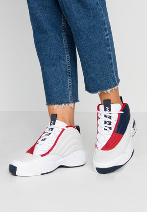 WMNS THE SKEW HERITAGE SNEAKER - Korkeavartiset tennarit - red/white/blue