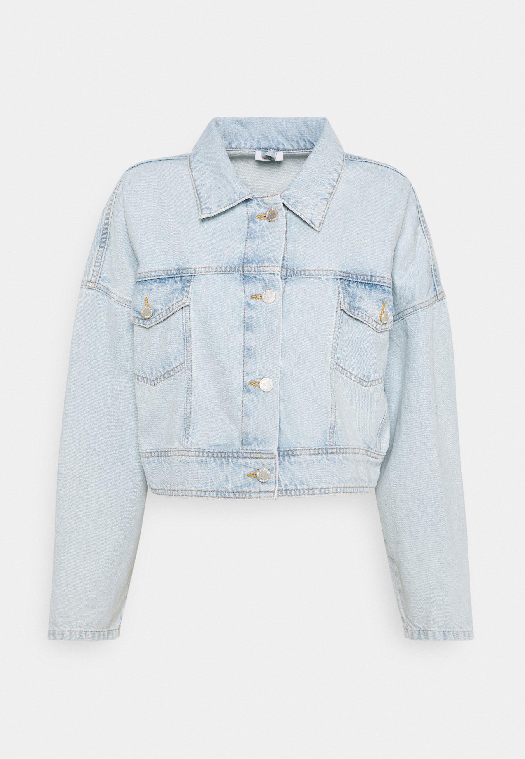 Women JACKET OVERSIZED FIT CROPPED LENGTH - Denim jacket