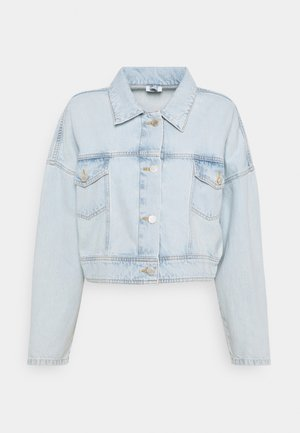 JACKET OVERSIZED FIT CROPPED LENGTH - Denim jacket - blue