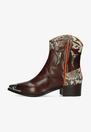 MOGANO SNAKE IVORY - Cowboy-/Bikerlaarsjes - brown