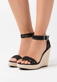 NA-KD - High heeled sandals - black - 0