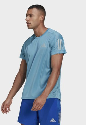 RESPONSE PRIMEGREEN RUNNING SHORT SLEEVE TEE - Sports shirt - Blue