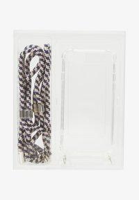 Jost - IPHONE 6/6s/7/7s/8 CASE NECKLACE - Mobiltasker - blue/beige - 1