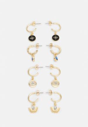 PCPAEO EARRINGS 4 PACK - Oorbellen - gold-coloured