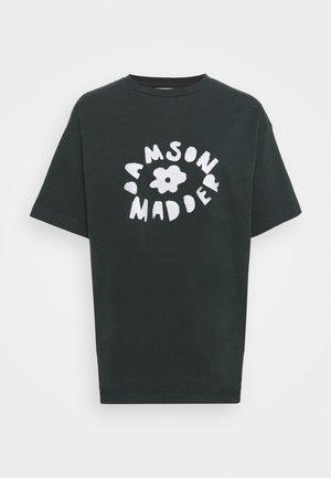 FLOWER TEE - T-shirt med print - washed black