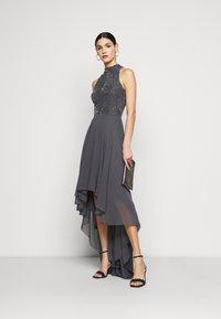 Lace & Beads Tall - AVERY HIGH LOW DRESS - Společenské šaty - charcoal - 1