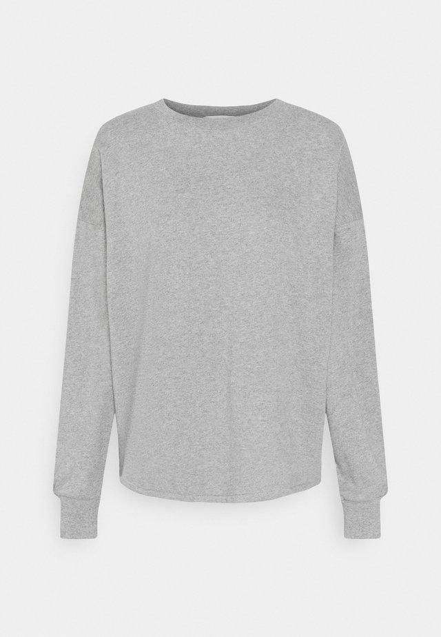 OPEN BACK - Sweater - light grey marl