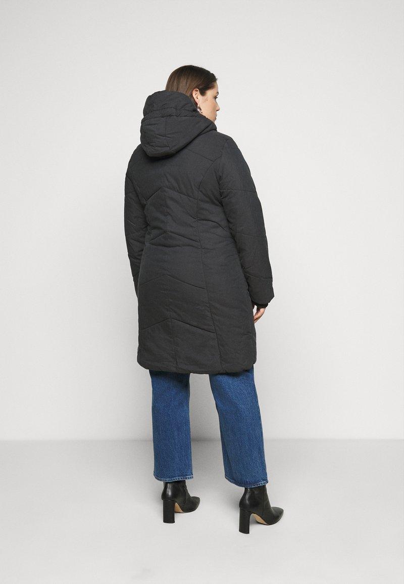 Ragwear Plus - GORDON LONG PLUS - Zimní kabát - black