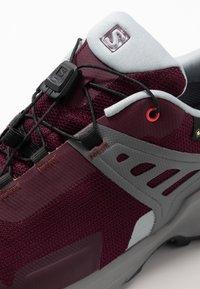 Salomon - X RAISE GTX - Hiking shoes - wine tasting/quarry/cayenne - 5