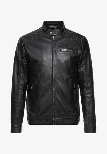 CLASSIC JACKET - Leather jacket - black