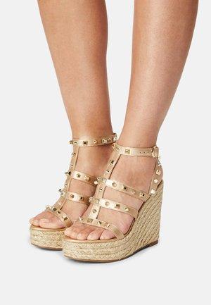 SALLINA - Platform sandals - gold