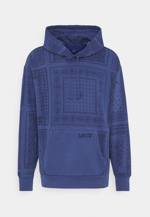 BANDANA POP OVER HOODIE UNISEX - Bluza - blues