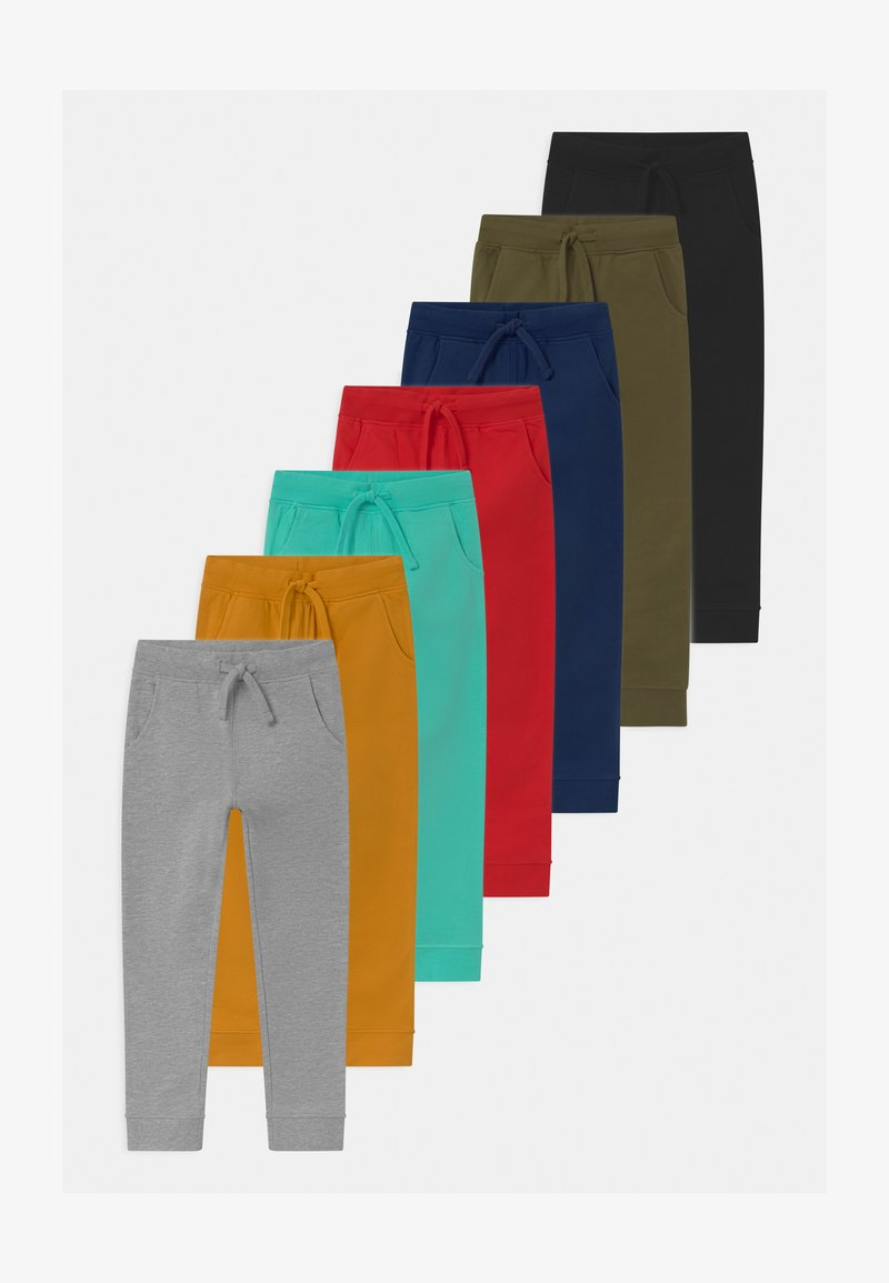 Friboo - 7 PACK UNISEX - Tracksuit bottoms - grey/ochre/ red