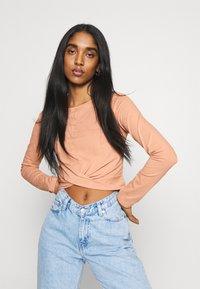 Even&Odd - Long sleeved top - camel - 3