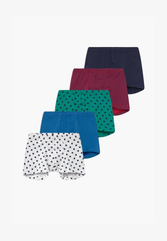 KIDS 5 PACK  - Shorty - dark blue/green/red