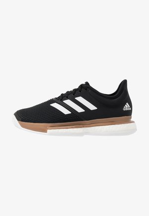 SOLECOURT BOOST - Kengät kaikille alustoille - core black/footwear white/copper metallic