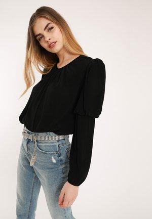 MIT BALLONÄRMELN - Bluse - schwarz