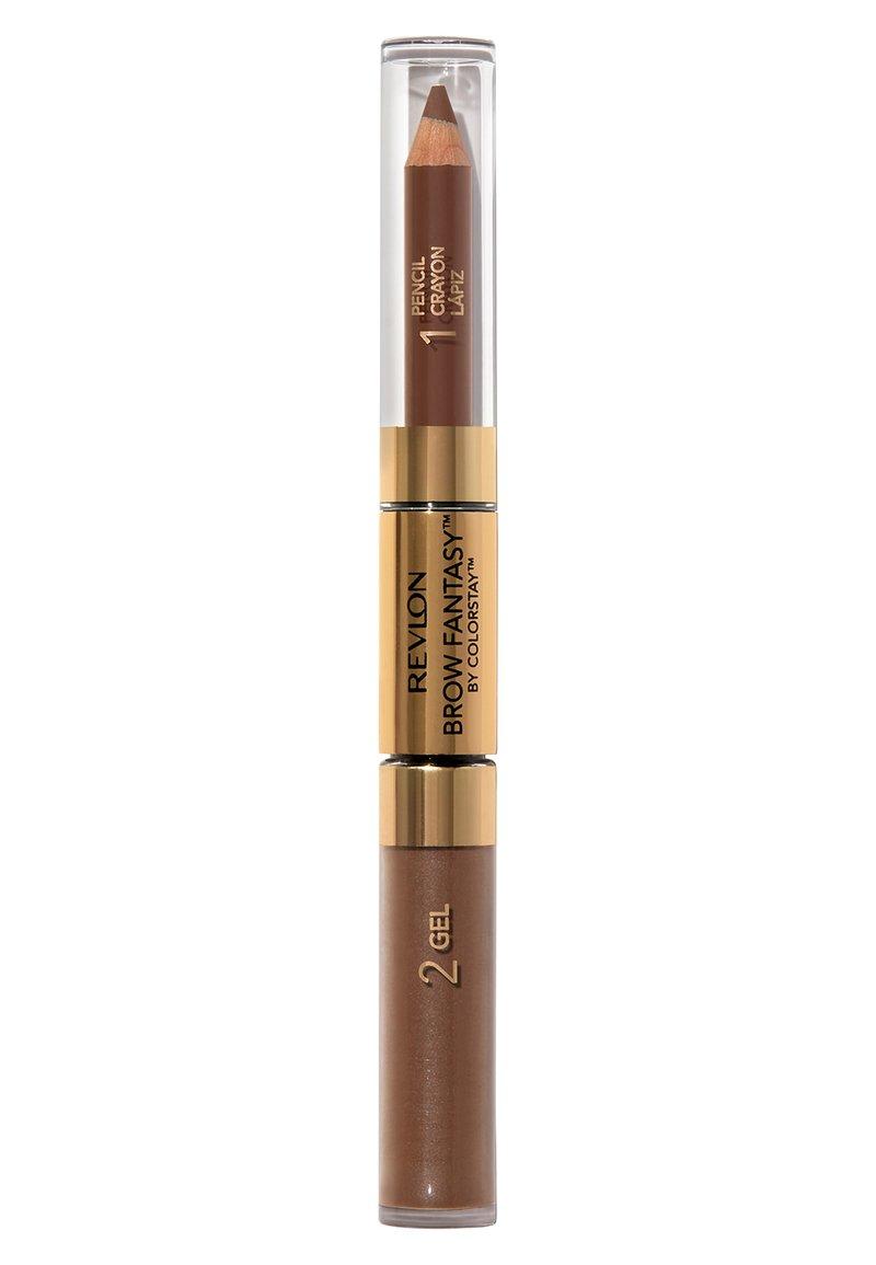 Revlon - BROW FANTASY PENCIL AND GEL - Eyebrow pencil - N°105 brunette