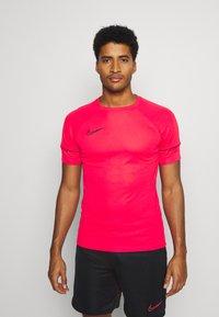 Nike Performance - ACADEMY 21 - Print T-shirt - siren red/black - 0