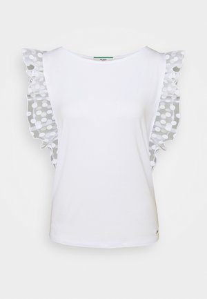 ENZA - T-shirt z nadrukiem - true white