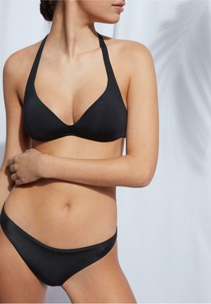 MIT ABGESTUFTER WATTIERUNG INDONESIA ECO - Bikini top - nero