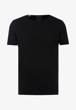 SLHMORGAN O-NECK TEE - T-shirt basic - black