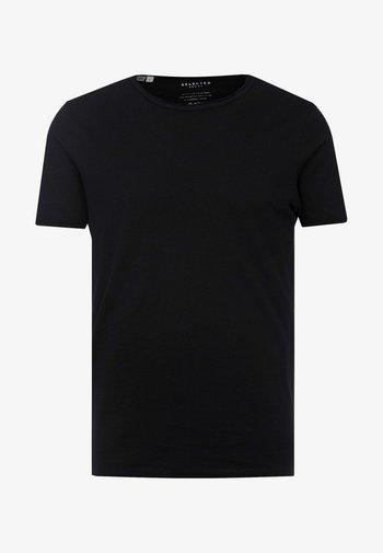 SLHMORGAN O-NECK TEE - Basic T-shirt - black