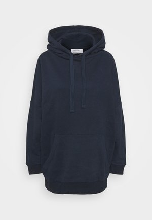 HOODED OVERLONG BACKPRINT - Felpa con cappuccio - scandinavian blue