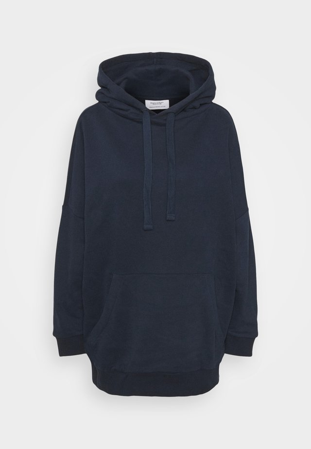 HOODED OVERLONG BACKPRINT - Sweat à capuche - scandinavian blue