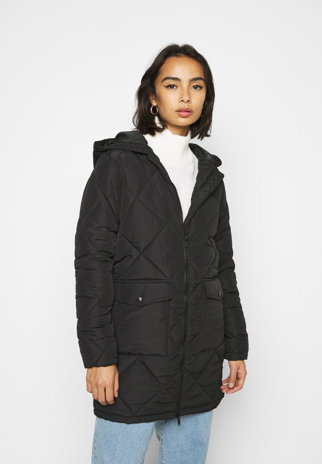 NMFALCON LONG JACKET - Vinterfrakker - black