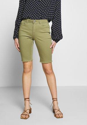 Denim shorts - khaki