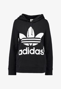 adidas Originals - ADICOLOR TREFOIL HOODIE - Sweat à capuche - black - 4