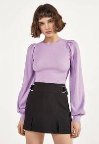 Bershka - MIT SCHNALLEN  - Shorts - black - 0