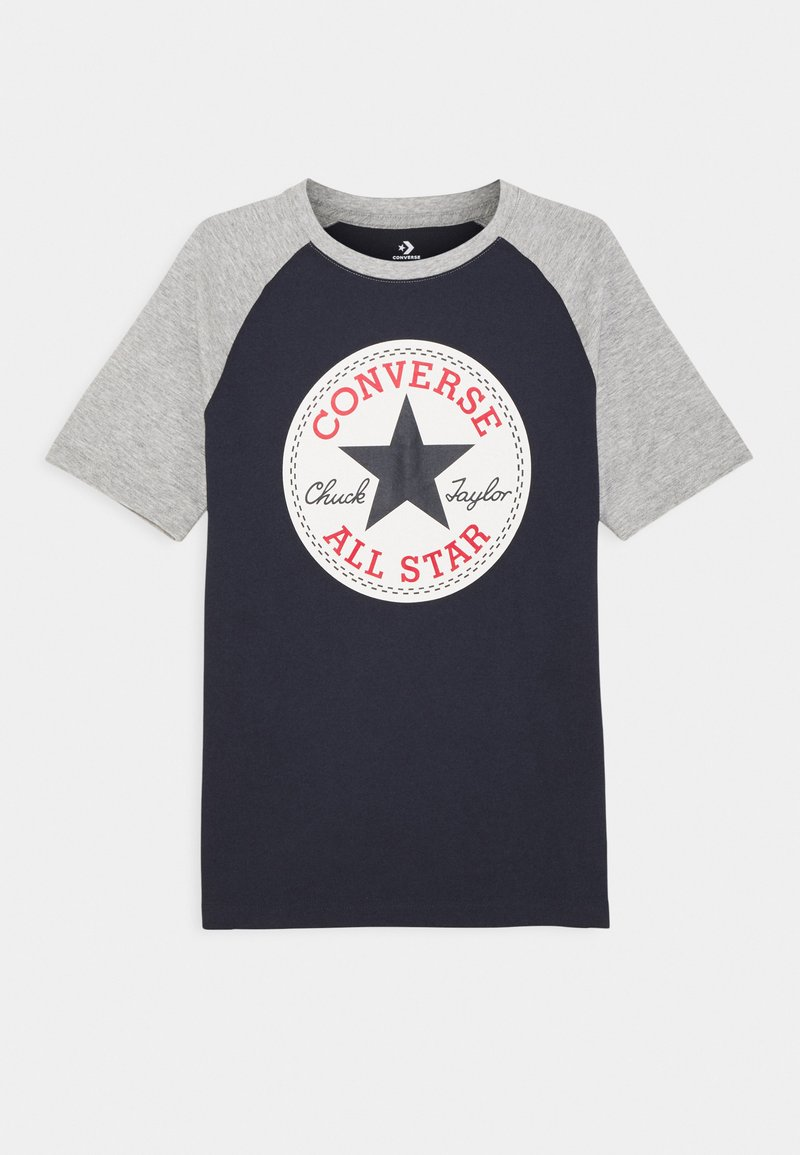 Converse - CHUCK PATCH RAGLAN TEE - T-shirt imprimé - obsidian