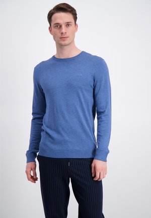 Stickad tröja - dusty blue mel
