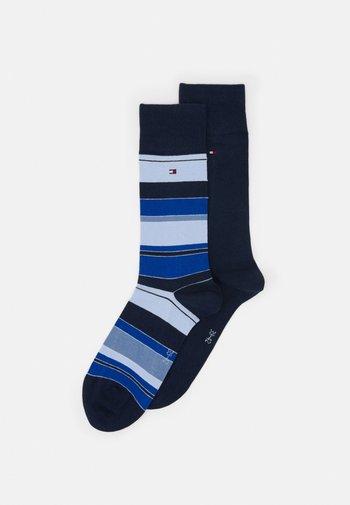 MEN SOCK COLOR STRIPE 2 PACK - Socks - navy