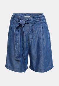 Esprit - PAPERBAG SHORT - Shorts - blue dark wash - 6