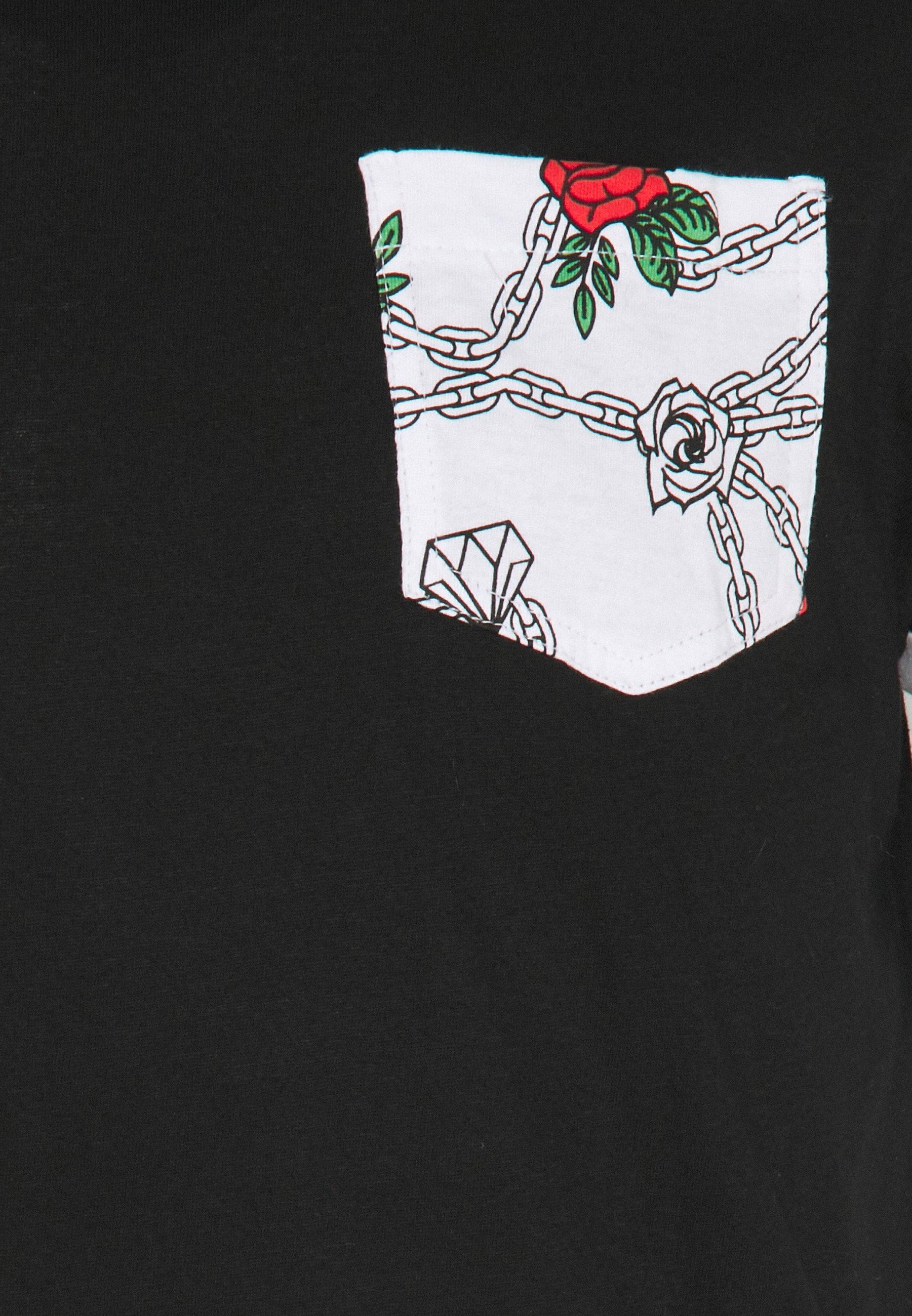 Brave Soul TIMAYA - Print T-shirt - black F5oUt
