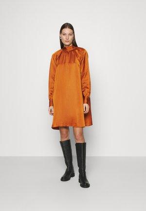 DRESS - Vestito estivo - brown medium