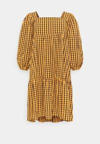 Missguided Plus - GINHAM SQUARE NECK SMOCK DRESS - Day dress - rust - 0