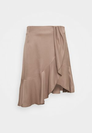 FRIGG RUFFLE SKIRT - A-Linien-Rock - taupe