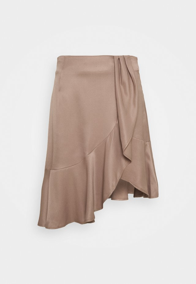 FRIGG RUFFLE SKIRT - A-line skirt - taupe