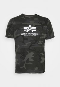 Alpha Industries - BASIC CAMO - Print T-shirt - black - 0
