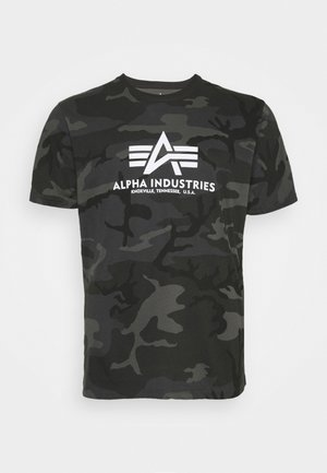 BASIC CAMO - Print T-shirt - black