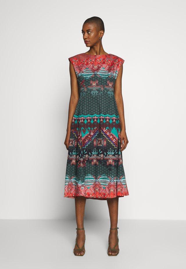 DRESS WITH GEOMETRIC PRINT - Sukienka letnia - black